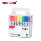 [monami] 모나미 유성매직 24색 세트(둥근닙)