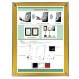 자석부착식액자-벽걸이형 (골드/A3)