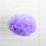 [파티용품]종이꽃볼 - 33006.팜팜모빌(라벤더/연보라)