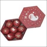 [크리스마스볼]트리장식볼:리본볼70Ø - 빨강색(7개)_3개남음