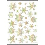 [크리스마스장식]60031.홀로그램눈꽃포인트스티커(50x70cm)_11개남음