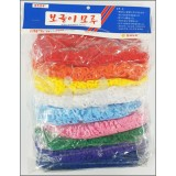 20mm굵은줄 보글이(뽀글이)모루세트(2Mx10색)