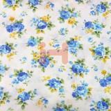 [옥양목]무늬천(1마) - 푸른장미