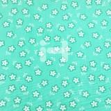 [옥양목]무늬천(1마) - 꽃 옥색