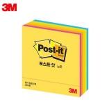 [3M] 포스트잇 큐브형광CT (76x76mm)