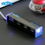 [엑토] HUB-13 USB허브 블랙 (USB2.0/4포트/무전원)