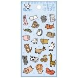 [쁘띠팬시] DA5575 대~충그린동물 스티커