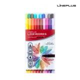 [LINEPLUS] 라인플러스 라인웍스 화인라이너 20색 드로잉 스케치 컬러링