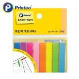 [프린텍] 포스트잇 FI021 필름인덱스 8색 45x8mm