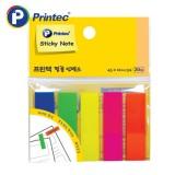 [프린텍] 포스트잇 FI022 필름인덱스 5색 45x12mm