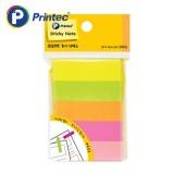 [프린텍] 포스트잇 PI050 종이인덱스 형광5색 50x15mm