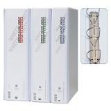 [아톰] B-2522 투명백색바인더 3공D링바인더 A4 (3cm)