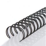 [양지] 더블와이어링/제본링 3:1 9.5mm (블랙)