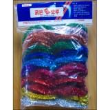11mm굵은줄 반짝이모루세트 - 소(3Yx10색)