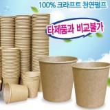 [친환경종이컵]6.5온스 크라프트종이컵 - 1줄(50개)